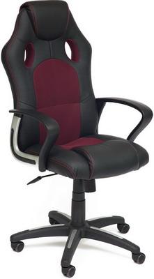 Кресло Tetchair RACER NEW (кож/зам/ткань черный/бордо 36-6/13) офисное кресло tetchair racer кож зам ткань черный серый 36 6 12