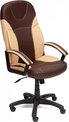 купить Кресло Tetchair TWISTER (кож/зам коричневый бежевый PU C 36-36/36-34/) дешево