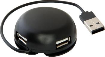 Разветвитель USB Defender, Quadro Light USB 2.0 4 порта 83201