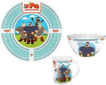 Набор посуды Гусь Хрустальный Три богатыря - Богатыри КРС - 902