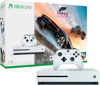 Стационарная приставка Microsoft Xbox One S 1 ТБ + Forza Horizon 4 (234-00562)