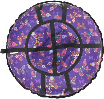 Тюбинг Hubster Люкс Pro Бабочки фиолетовые (90см) во4279-1 цена и фото