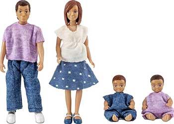 Набор Lundby LB_60806300 Куклы для домика семья с двумя малышами