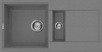 Кухонная мойка Omoikiri Sakaime 86-2-PL Tetogranit/платина (4993203) термокружка с прессом 0 45 л bodum travel черная 11100 01