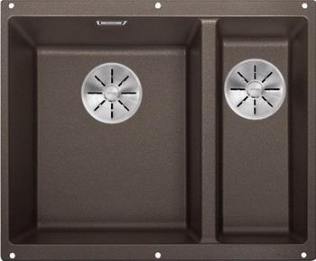 Кухонная мойка BLANCO SUBLINE 340/160-U SILGRANIT кофе (чаша слева) с отв.арм. InFino 523557 цена в Москве и Питере