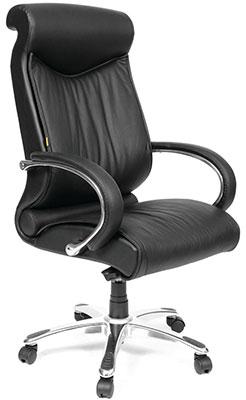 Офисное кресло Chairman 420 WD кожа черная