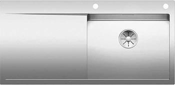 Кухонная мойка BLANCO FLOW XL 6S-IF нерж. сталь зеркальная полировка с клапаном-автоматом 521640 мойка кухонная blanco lantos 9e if полированная нерж сталь с клапаном автоматом 516277