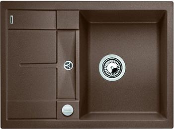 Кухонная мойка BLANCO METRA 45 S Compact SILGRANIT мускат с клапаном-автоматом 521885 мойка metra 45 s compact anthracite 519572 blanco