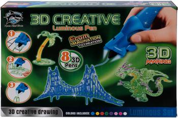 цена Набор 3D-ручек 3D Making (8 шт.) светящиеся чернила 1CSC 20003393 онлайн в 2017 году