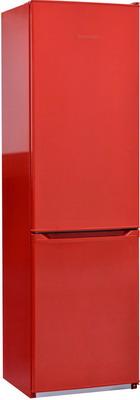 цена Двухкамерный холодильник NordFrost NRB 110 832 красный онлайн в 2017 году