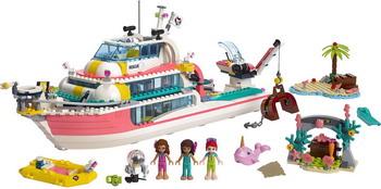 Конструктор Lego Friends 41381 Катер для спасательных операций конструктор lego friends катер для спасательных операций 908 дет 41381