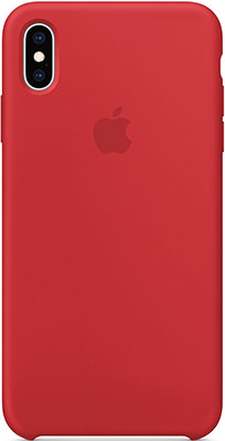 Чехол (клип-кейс) Apple Silicone Case для iPhone XS Max цвет (PRODUCT)RED красный MRWH2ZM/A клип кейс guess kaia для apple iphone xs черный