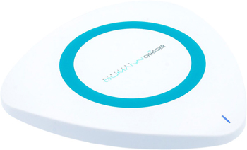 Беспроводное ЗУ Qumann QWC-01 Wireless Delta Qi Charger White/Blue ring 50514 t35 qi wireless charging charger pad for lg e960 google nexus 4 2g nokia lumia 920 white