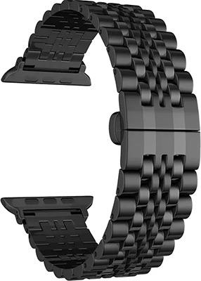 Ремешок для часов Lyambda для Apple Watch 42/44 mm CASTOR DS-APG-04-44-BK Black цены онлайн
