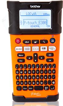Принтер Brother P-touch PT-E300VP переносной оранжевый/черный цена