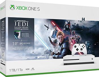 Стационарная приставка Microsoft Xbox One S 1Tb с игрой STAR WARS 1M EA ACCESS