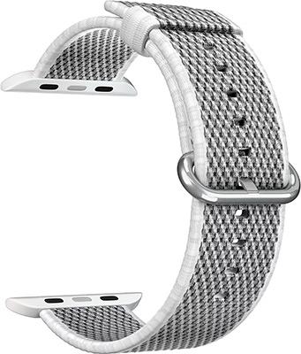 Фото - Ремешок для часов Lyambda для Apple Watch 42/44 mm POLIS DSN-02-04A-44-WH White защитное стекло skinbox apple watch 38mm