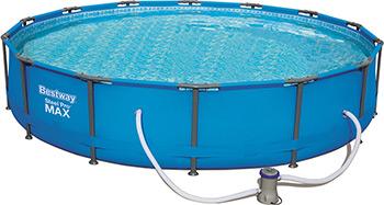 Бассейн BestWay 427 х 84 см фильтрующий насос (220-240В) 56595 кофр подвесной valiant travelling 4 секции 30 х 30 х 84 см