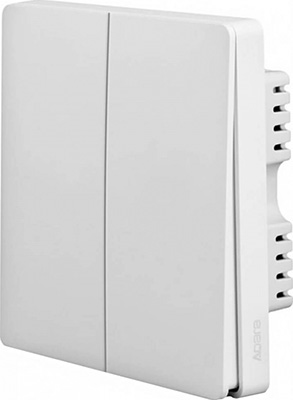 Умный выключател Xiaomi Aqara wall switch (2 кнопки) (QBKG03LM) фото