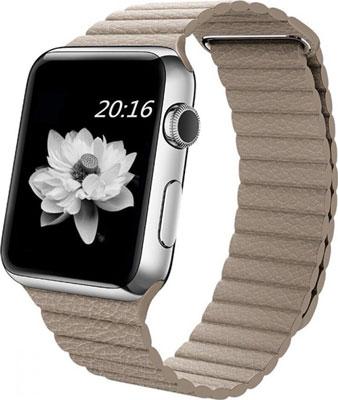 Ремешок кожаный Eva для Apple Watch 38/40mm Бежевый (AVA008BG)