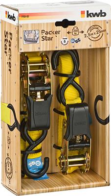 Ремень стяжной Kwb с двумя крючками Kwb 25мм 2 5м 2шт 7722-22
