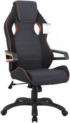 Кресло Brabix ''Techno Pro GM-003''  ткань  черное/серое  вставки оранжевые  531813