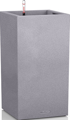 Фото - Напольное кашпо с автополивом Lechuza CANTO Stone 30 колонна с субстратом в комплекте пластик серое Ш30 Д30 В56 см 12л 13600 кашпо lechuza canto 14см графит с автополивом