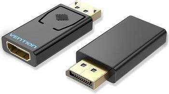 Фото - Адаптер-переходник Vention DisplayPort 20M > HDMI F (HBKB0) переходник hdmi f hdmi f vention h380hdff