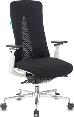 Кресло руководителя Бюрократ MONE черный сетка/ткань крестовина алюминий