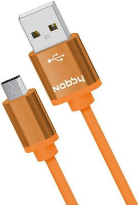 USB кабель Nobby Practic microUSB 1 м 2А DT-005 оранжевый 0204NB-005-001