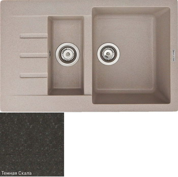 Кухонная мойка Zigmund & Shtain RECHTECK 775.2 темная скала