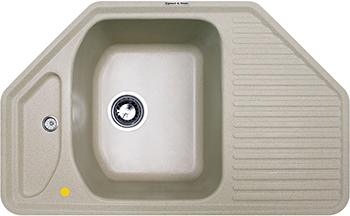 Кухонная мойка Zigmund amp Shtain ECKIG 800 речной песок