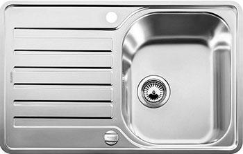 Кухонная мойка BLANCO LANTOS 45 S-IF Compact нерж. сталь с клапаном-автоматом мойка кухонная blanco lantos 9e if полированная нерж сталь с клапаном автоматом 516277