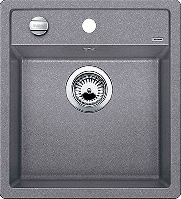 Кухонная мойка BLANCO DALAGO 45 SILGRANIT алюметаллик с клапаном-автоматом кухонная мойка blanco dalago 6 f silgranit алюметаллик с клапаном автоматом