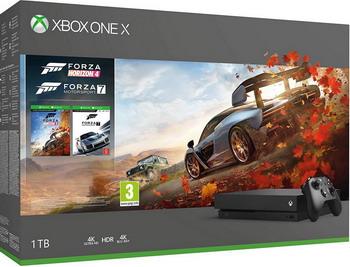 Игровая приставка Microsoft Xbox One X 1 ТБ + Forza Horizon 4 + Forza Motorsport 7 (CYV-00058) игровая приставка microsoft xbox 360 minecraft forza horizon 2