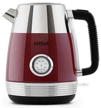 Чайник электрический Kitfort КТ-633-2 красный chlxl красный цвет 12