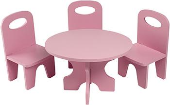 Набор кукольной мебели Paremo для кукол ''Классика'': стол стулья цвет: розовый