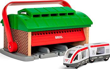 Депо-переноска Brio Депо-переноска для 3х поездов паровоз и вагон в комплекте