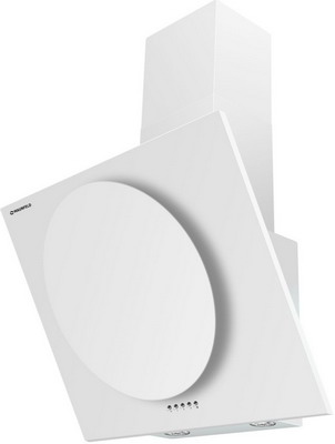 лучшая цена Вытяжка MAUNFELD TOWER CIRCLE 60 Белый/Белое стекло