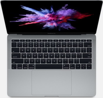 Ноутбук Apple MacBook Pro 13 with Retina display Mid 2017 (MPXQ2RU/A) серый космос ноутбук apple macbook mid 2017 12 mrqn2 ru a 1 2 ггц 8 гб 256 гб ssd intel hd 615 золотой