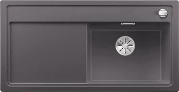 Кухонная мойка Blanco ZENAR XL 6S (чаша справа) SILGRANIT темная скала с кл.-авт. InFino 523945 кухонная мойка blanco zenar xl 6s чаша справа silgranit шампань с кл авт infino 523950