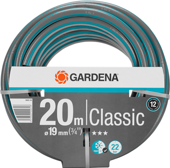 Шланг садовый Gardena Classic 19 мм (3/4'') 20 м 18022-20 цена и фото