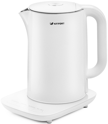Чайник электрический Kitfort КТ-629-1 белый чайник электрический kitfort кт 667 1 0 6л 1150вт белый