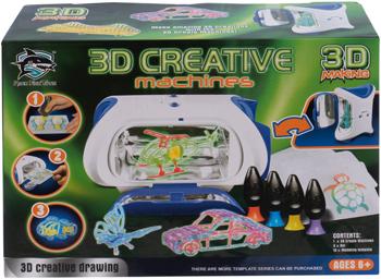 цена Принтер детский 3D Making с набором картриджей со светящимся жидким полимером 1CSC 20003386 онлайн в 2017 году