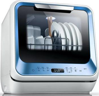 Компактная посудомоечная машина Midea MCFD 42900 BL MINI голубая