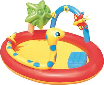 Игровой бассейн BestWay 192х150х88 160л с брызгалкой и кольцами 53026 BW