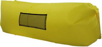 цена Лежак надувной Ламзак желтый во3498 онлайн в 2017 году