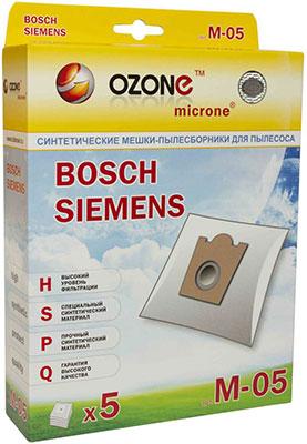 Мешки-пылесборники Ozone M-05 синтетические для пылесоса 5 шт