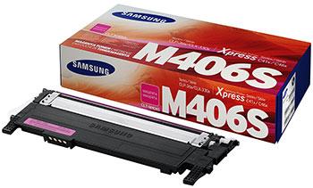 Фото - Картридж Samsung CLT-M 406 S SU 254 A Пурпурный чехол клип кейс samsung для samsung galaxy a40 araree a cover фиолетовый gp fpa405kdaer
