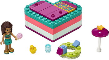 Конструктор Lego Friends 41384 Летняя шкатулка-сердечко для Андреа конструктор lego friends катер для спасательных операций 908 дет 41381